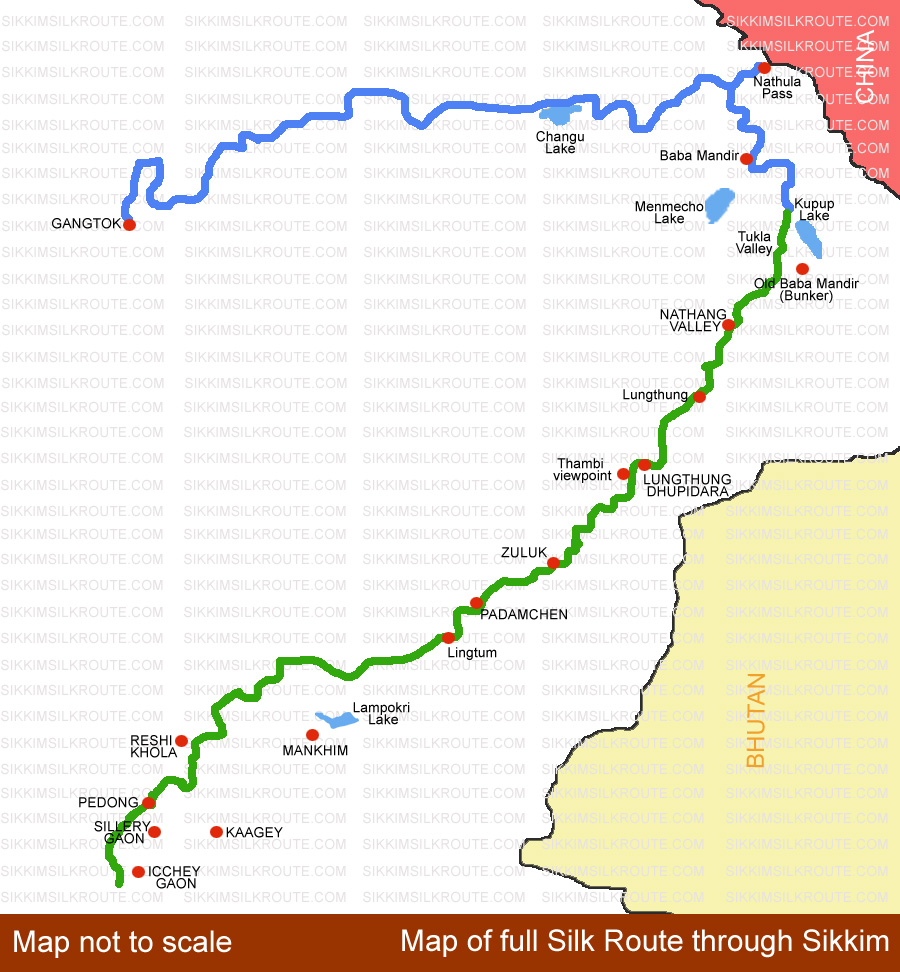 Silk Route Maps | Sikkim Silk Route on map of india with distance, india tourist map, map of tamilnadu with distance, india map with cities with distance, map of rajasthan with distance, india map outline, india road network, south india map with distance, karnataka map with distance, india national highway network map,